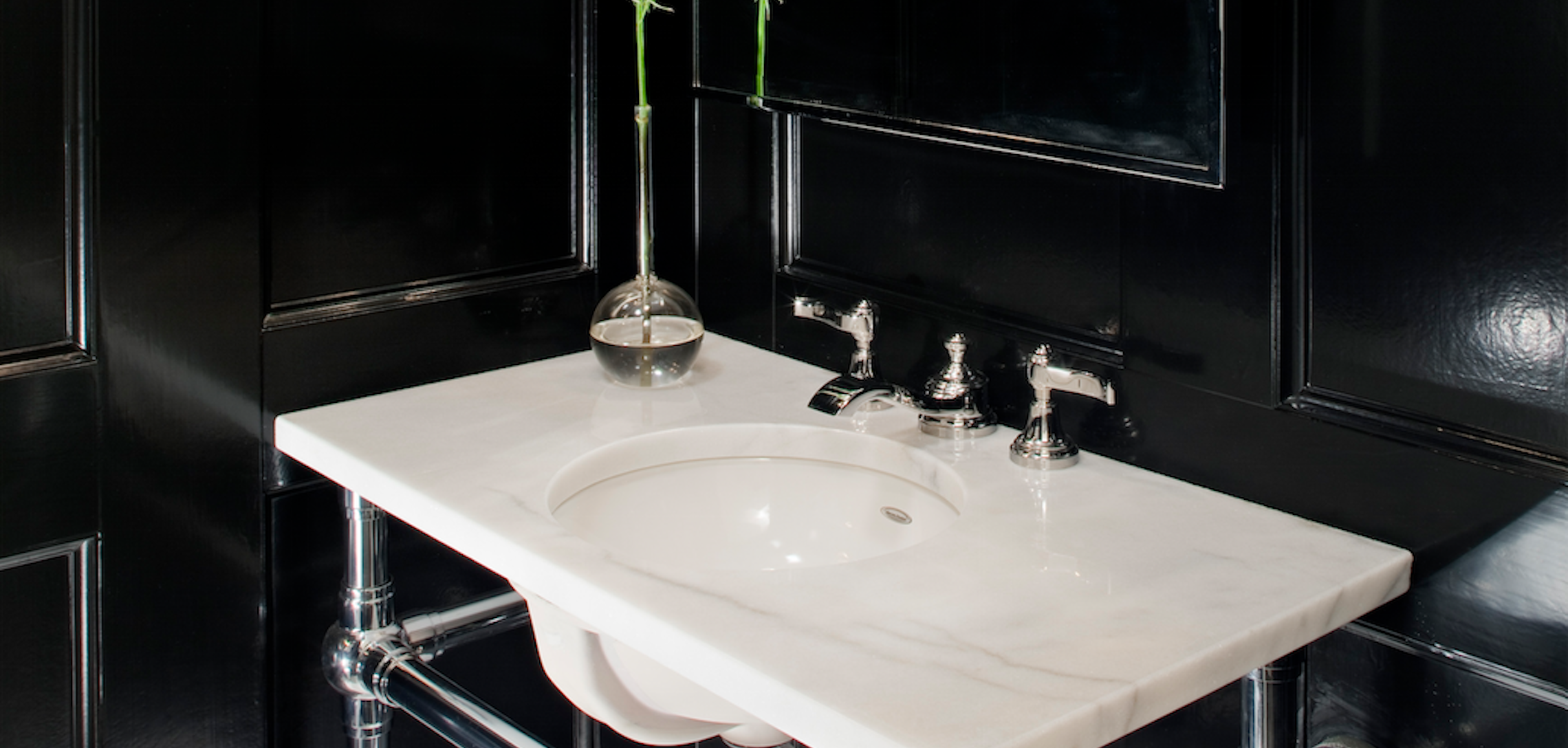 From The February Issue Pristine Powder Rooms