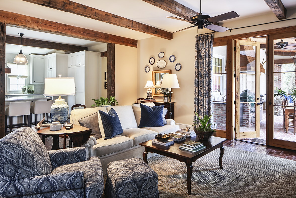 This Open Keeping Room Was Once An Outdoor Porch Before Martha And Steve  Strohschein Reclaimed The Space As Part Of A Renovation Project That Also  Included ...
